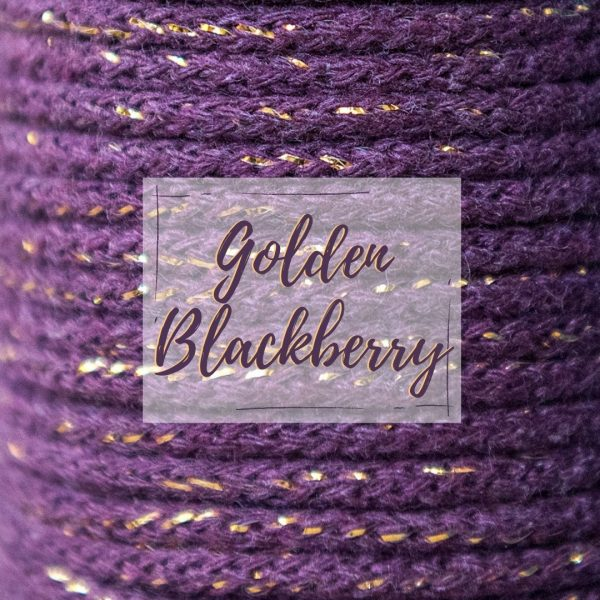 golden blackberry metallic thread