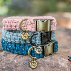 limited edition range macrame dog collars