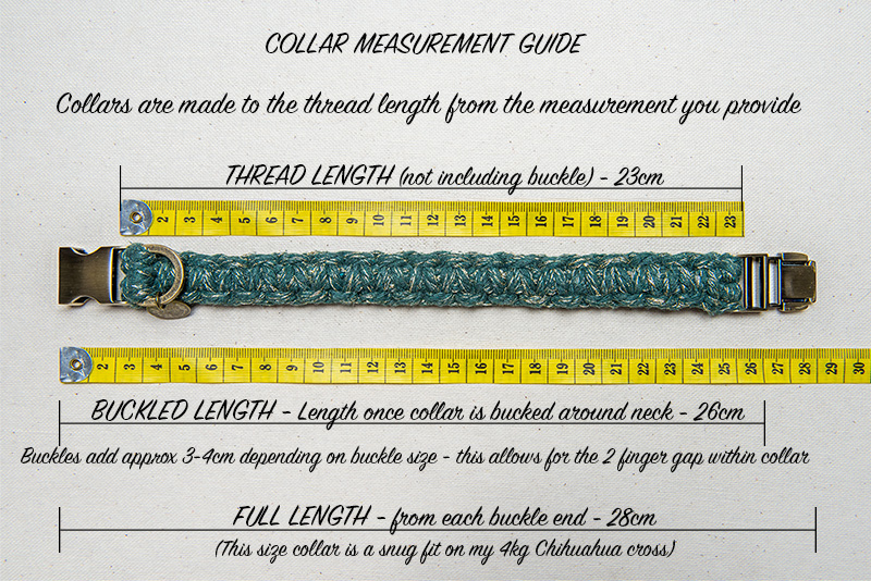 Macrame Collar sizing frequently asked questions